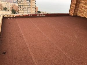 Trabajo de impermeabilización Playa muchavista