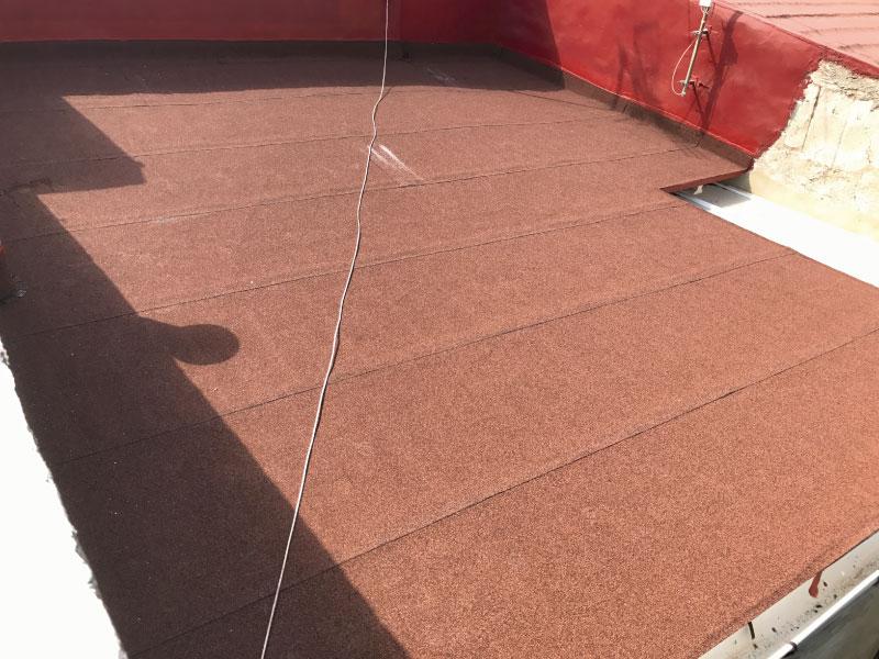 trabajo de impermeabilización realizado en San Juan pueblo