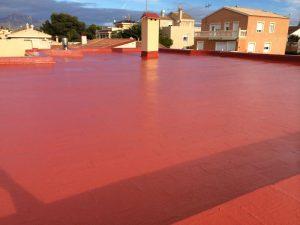 Trabajo sobre terraza en San Vicente