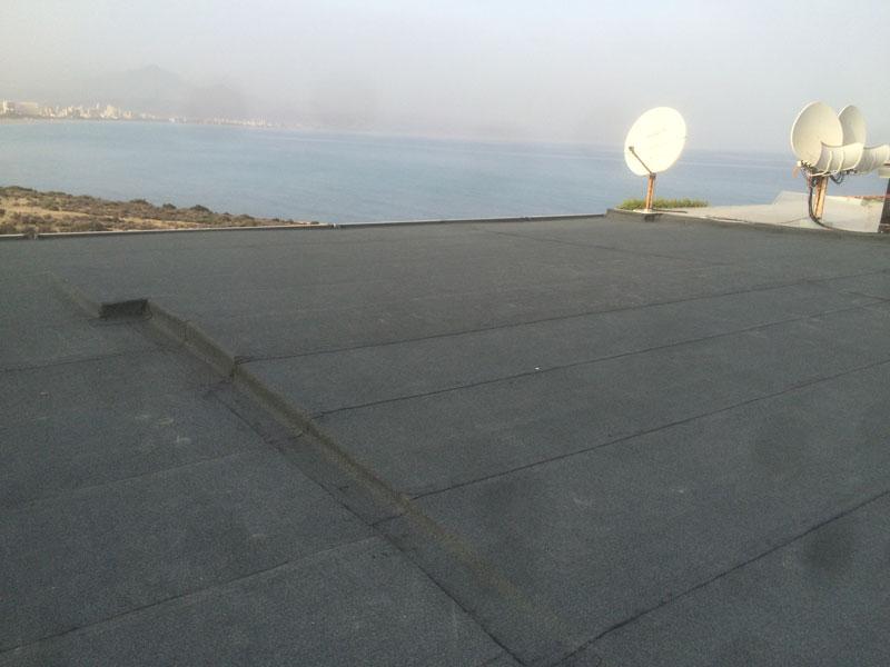 Trabajo sobre terraza en el Cabo. Terraza pizarra
